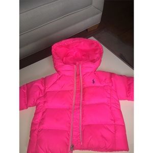 🍼💕 Girls Pink Polo Ralph Lauren Puffer